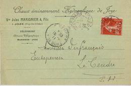 63 JOZE CHAUX HYDRAULIQUE MARIGNIER - France