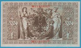 DEUTSCHES REICH 1000 MARK 21.4.1910 SERIE 1143954G P#44b  AUNC - [ 2] 1871-1918 : German Empire