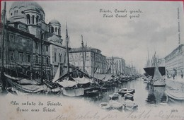 TRIESTE - CANALE GRANDE , VIAGGIATA - Trieste