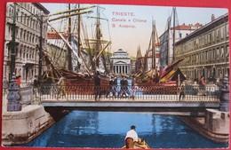 TRIESTE - CANALE E CHIESA S.ANTONIO , VIAGGIATA - Trieste