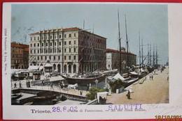 TRIESTE - PIAZZA DI PONTEROSSO , VIAGGIATA 1902 - Trieste