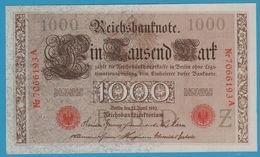 DEUTSCHES REICH 1000 MARK 21.4.1910 SERIE 7066193A P#44b  UNC - [ 2] 1871-1918 : German Empire