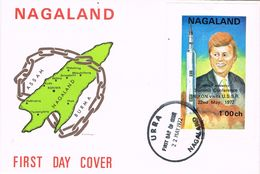 25963. Carta F.D.C. URRA (Nagaland) 1972. Conference Nixon To URSS, Stamp Hojita Kennedy - Sellos