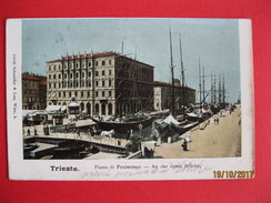 TRIESTE - PIAZZA DI PONTEROSSO , VIAGGIATA 1904 - Trieste