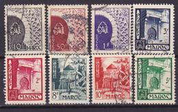 Maroc Série N° 277 à 284 Oblitérée - Voir Verso  - - Maroc (1891-1956)