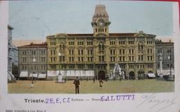 TRIESTE - RATHAUS, MUNICIPIO , VIAGGIATA 1903 - Trieste