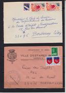 Lot De 35 Lettres  De 1978 Et 1979 Pour BORDEAUX Affranchies Avec  2-3-5  Timbres - France
