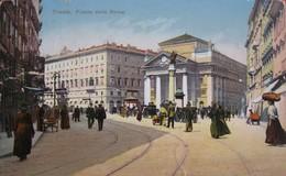 TRIESTE - PIAZZA DELLA BORSA , VIAGGIATA 1913 - Trieste
