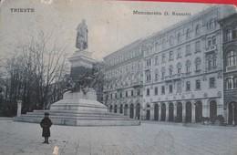 TRIESTE - MONUMENTO D.ROSETTI, VIAGGIATA - Trieste