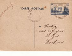 GUERRE 40 45 ENTIER POSTAL REFUGIERS BELGES EN FRANCE CARAMAN VERS POITIERS  19 6 1940 - Militaria