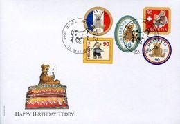 27616 Switzerland, Fdc 2002,  Happy Birthday Teddy Bear !! - Bears