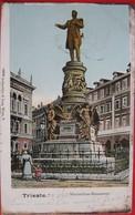 TRIESTE - MAXIMILIAN MONUMENT, VIAGGIATA 1903 - Trieste