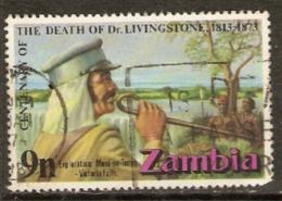 Zambia 1973 SG 192 Death Of Livingstone Fine Used - Zambia (1965-...)