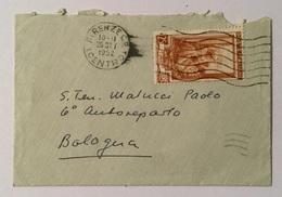 Francobollo 25  Lire Arance Sicilia Su Busta  Cm.11X7,5 Anno 1952 - 6. 1946-.. Republic