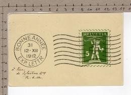 Bonne Année 1912 - Timbres (représentations)