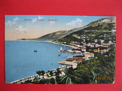 TRIESTE - BARCOLA, PANORAMA, VIAGGIATA, K.U.K.CENSURA MILITARE - Trieste
