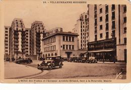 69 - VILLEURBANNE - L'Hôtel Des Postes Et Avenue Aristide Briand - Villeurbanne