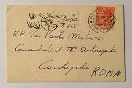 Francobollo 10 Lire  Su Busta  Cm.11X7,5 Anno 1956 - 6. 1946-.. Repubblica