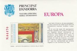 8762-PRINCIPAT D'ANDORRA-VEGUERIA EPISCOPAL SERVEI DEMISSIONS-EUROPA-ERINNOFILO - Cinderellas