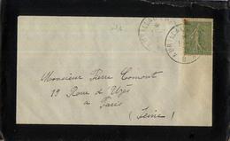 AMBULANT AURILLAC PARIS B 1920 CANTAL - Railway Post