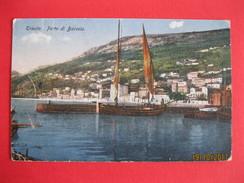 TRIESTE - PORTO DI BARCOLA, VIAGGIATA, K.U.K.CENSURA MILITARE - Trieste