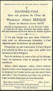 Rouvroy  Dampicourt Albert Berque 1887 1943 Epoux De Emma Navé - Rouvroy