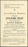 Rouvroy  Montquintin Anne Marie Gillet 1860 1933 Veuve De Auguste Marquet - Rouvroy