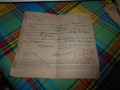 517 -  Document Militaire , Bon De Feuille De Déplacement De Bayonne à Gauriaguet,Tapon 18e R.I.P.C , Le Major, 1952 - Documenti Storici