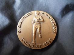 Médaille Bronze D.CHAUVELIER - E.A.C.C LE MANS -VAINQUEUR 1981 - Semi Marathon Marvejols - Mende - Sports