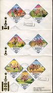 27627 Mongolia,  3 Fdc  On Circuled Registered Covers To Switzzerland, Issue Differents Camels,kamele,chameaux - Otros