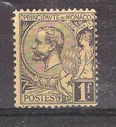 MONACO 1891, Prince Albert 1er , Yvert N° 20, 1 F FRANC Noir / Jaune  , Neuf * / MH, TB Cote 25 Euros - Monaco