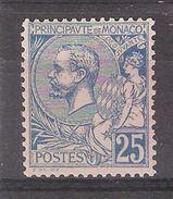 MONACO 1901, Prince Albert 1er , Yvert N° 25, 25 C Bleu  , Neuf * / MH, TB Cote 20 Euros - Monaco