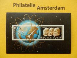 Hungary 1962, IMPERF / GAGARIN TITOV GLENN SPACE RAUMFAHRT ESPACE: Mi 1818, Bl. 33 B, ** - Ruimtevaart