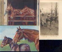 (chocolat) AIGLON – Lot De 3 Cartes Postales Anciennes éditées Par La Chocolaterie Représentant Des Chevaux - Aiglon
