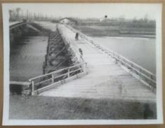 Fotografia - Italia Anni '50 - Ponte Provvisorio In Legno Fiume Adda Fuentes - Photographs