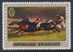 Ruanda Rwanda 1970 Mi 367 A YT 338 ** The 1821 Derby At Epsom, Or Horse Race, Painting By Géricault / Pferderennen - Kunst