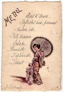 VP11.113 - Ancien Menu De 1907 - Chinoise & Enfant - Menus