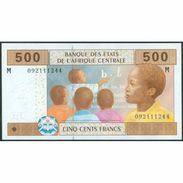 TWN - CENTRAL AFRICAN REPUBLIC (C.A.S.) (M) 306M - 500 Francs 2002 (2009) AU - Repubblica Centroafricana