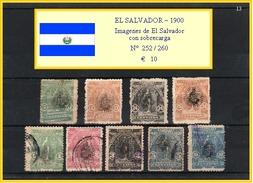 EL SALVADOR 1900  -  Imágenes De El Salvador Con SOBRECARGO - Salvador