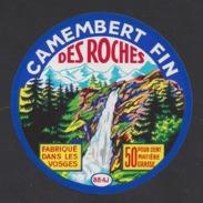 Etiquette De Fromage Camembert    -   Des Roches  -  René Bittner  à  Châtenois  (88 AJ ) - Cheese