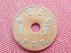 BELGIQUE Jeton Mess De PTT De BRUXELLES RARE - Monetary / Of Necessity