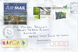 Timbre Tasman Bridge (Five-lane Bridge) Hobart, Tasmania Island, On Letter Addressed To ANDORRA - Ponti