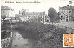 CPA / AK / PK -   CINEY  La Passerelle Et Le Pont Sur L ' Haljoux - Ciney
