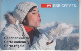 CARTE  KDO  SUISSE * GIFT CARD     ***   TRAIN - ZUG - RAIL  - CFF - SBB - FFS / 4   *** - Tarjetas De Regalo