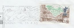 1995 Arcachon FRANCE COVER SLOGAN Illus FISH, BATHING Mailed From Germany NAVY SHIP  Minesweeper PADERBORN , Stamps - Fishes