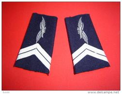 PAIRE DE FOURREAUX D'EPAULE GENDARMERIE DE L'AIR / GENDARMERIE NATIONALE - Police & Gendarmerie