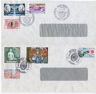 2 Enveloppes Oblitération Temporaire MUSEE POSTAL (1978 Et 1979) -(Les Enveloppes Ont Des Traces D'encollage à L'arrière - Cachets Commémoratifs