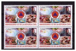 CUBA 2017 Civil Defense 1v In Block Of 4 MNH - Nuevos