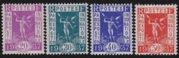 France   .    Yvert  .     322/325        .   **      .      Neuf SANS  Charniere   .    /    .     MNH - France