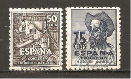 España/Spain-MH/*) - Edifil  1012-13 - Yvert  759-60 (defectuosos) - 1931-50 Neufs